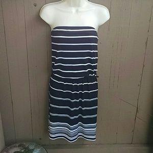 White House Black Market strapless dress Size L